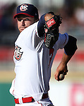 Oklahoma City's Jarred Cosart pitches for the Pacific Coast League in the Triple-A All Star game in Reno, Nev., on Wednesday, July 17, 2013. <br /> Photo by Cathleen Allison