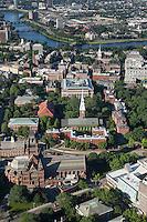 Harvard University campus aerial view, Cambridge, MA