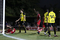 Chris Dickson of Hornchurch celebrates after an own goal makes the score 2-2 during Hornchurch vs Margate, BetVictor League Premier Division Football at Hornchurch Stadium on 13th August 2019