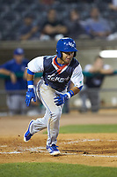 Ricky Aracena (2) of the Lexington Legends hustles down the first base line against the West Virginia Power at Appalachian Power Park on June 7, 2018 in Charleston, West Virginia. The Power defeated the Legends 5-1. (Brian Westerholt/Four Seam Images)