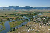 Missouri River flowing east from Rockies