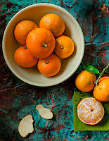 Still life of local Maui Tangerines
