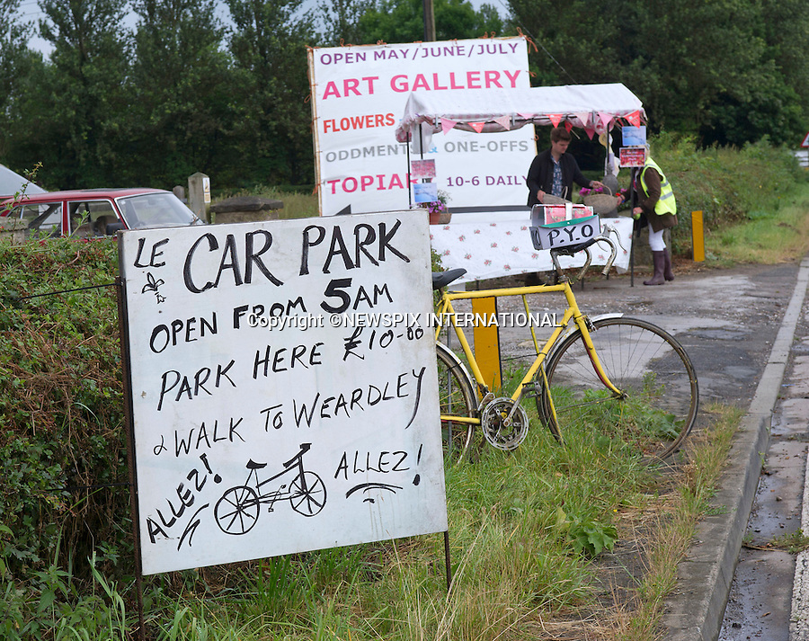 05.07.2014; Leeds: FRENCH FLAVOUR FOR TOUR-DE-FRANCE.<br /> Locals in Yorkshire get into the spirit of the Tour-de France by displaying signs in French<br /> The 101st Tour de France starts in Yorkshire for the first time.<br /> Mandatory Credit Photo: &copy;Dias/NEWSPIX INTERNATIONAL<br /> <br /> **ALL FEES PAYABLE TO: &quot;NEWSPIX INTERNATIONAL&quot;**<br /> <br /> IMMEDIATE CONFIRMATION OF USAGE REQUIRED:<br /> Newspix International, 31 Chinnery Hill, Bishop's Stortford, ENGLAND CM23 3PS<br /> Tel:+441279 324672  ; Fax: +441279656877<br /> Mobile:  07775681153<br /> e-mail: info@newspixinternational.co.uk