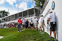 Jon Rahm (ESP) heads for the tee on 18 during Rd4 of the 2019 BMW Championship, Medinah Golf Club, Chicago, Illinois, USA. 8/18/2019.<br /> Picture Ken Murray / Golffile.ie<br /> <br /> All photo usage must carry mandatory copyright credit (© Golffile | Ken Murray)