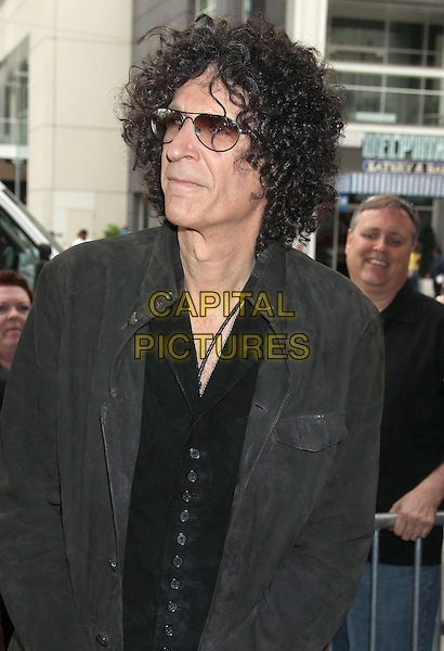 "Howard Stern.""America's Got Talent"" Los Angeles Auditions held at the Pantages Theatre, Los Angeles, California, USA..April 24th, 2013.half length black waistcoat grey gray jacket sunglasses shades tinted glasses .CAP/ADM/RE.©Russ Elliot/AdMedia/Capital Pictures."