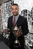 Steelers Player of the Year Jimmy Tupou. Counties Manukau Rugby Unions Senior Prize giving held at ECOLight Stadium Pukekohe on Wednesday November 2nd, 2016.<br /> Photo by Richard Spranger.