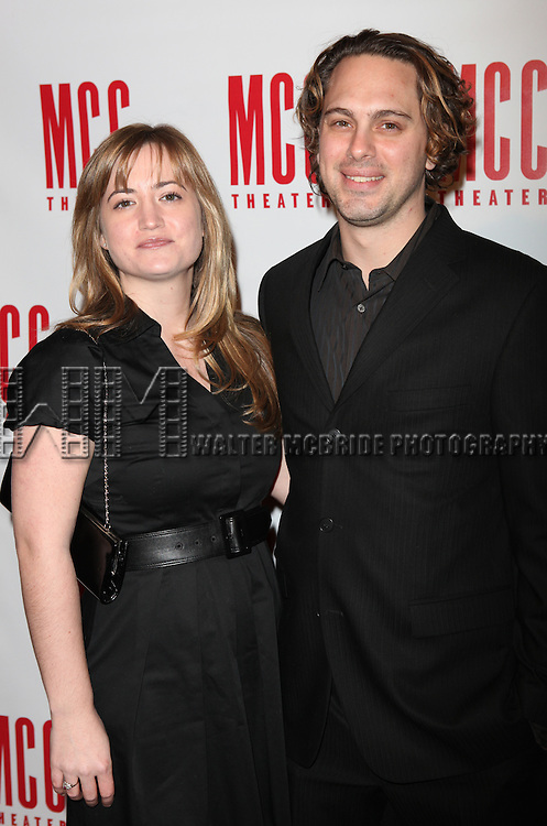 Thomas Sadoski & wife Kimberly.attending the MISCAST 2011 MCC Theater's Annual Musical Gala in New York City.