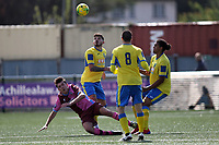 Konstantinos Alexandrou of Haringey watches the ball during Haringey Borough vs Corinthian Casuals, BetVictor League Premier Division Football at Coles Park Stadium on 10th August 2019