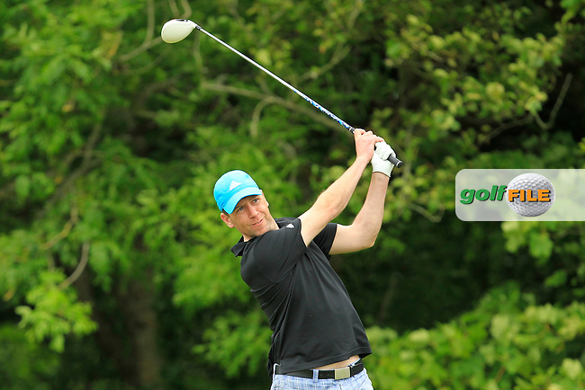 Gus Fitzpatrick (Naas) on the 14th tee during Round 2 of the Irish Mid-Amateur Open Championship at New Forest on Saturday 20th June 2015.<br /> Picture:  Thos Caffrey / www.golffile.ie