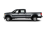 Car Driver side profile view of a 2017 Ford F-350 XLT-Crew 4 Door Pickup Side View