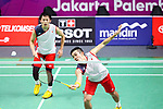 Keigo Sonoda & Takeshi Kamura (JPN), <br /> AUGUST 23, 2018 - Badminton : <br /> Men's Doubles at Gelora Bung Karno Istora <br /> during the 2018 Jakarta Palembang Asian Games <br /> in Jakarta, Indonesia. <br /> (Photo by Naoki Nishimura/AFLO SPORT)