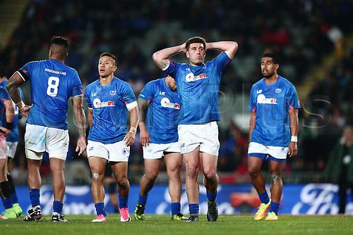 16th June 2017, Eden Park, Auckland, New Zealand; International Rugby Pasifika Challenge; New Zealand versus Samoa;  Kieron Fonotia of Samoa reacts