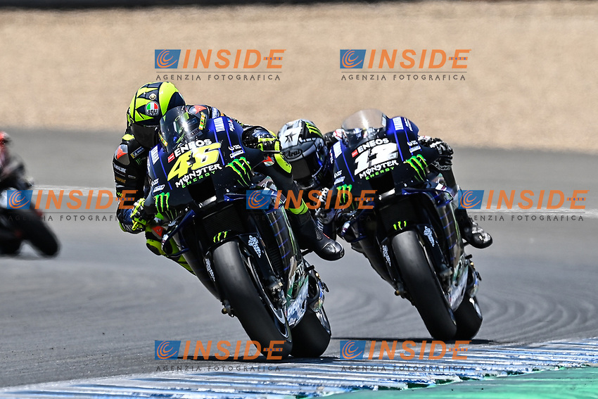 Valentino Rossi Yamaha , Maverick Vinales Yamaha <br /> Jerez 26/07/2020 Moto Gp Andalucia 2020 / Spain<br /> Photo Yamaha Press Office / Insidefoto <br /> EDITORIAL USE ONLY