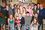 30th: John Williams of Main Street, Ballybunion (seated third from left) at his 30th birthday party in the Railway Bar, Ballybunion, on Saturday evening, along with family and friends..