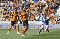 Wolverhampton Wanderers' Danny Batth and Blackburn Rovers' Craig Conway<br /> <br /> Photographer Rachel Holborn/CameraSport<br /> <br /> The EFL Sky Bet Championship - Wolverhampton Wanderers v Blackburn Rovers - Saturday 22nd April 2017 - Molineux - Wolverhampton<br /> <br /> World Copyright &copy; 2017 CameraSport. All rights reserved. 43 Linden Ave. Countesthorpe. Leicester. England. LE8 5PG - Tel: +44 (0) 116 277 4147 - admin@camerasport.com - www.camerasport.com
