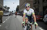 Simon Gerrans (AUS/Orica-GreenEDGE) on his way to the start<br /> <br /> 2015 Giro<br /> stage 5: La Spezia - Abetone (152km)