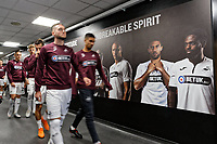 Artwork in the tunnel during the Sky Bet Championship match between Swansea City and Queens Park Rangers at the Liberty Stadium, Swansea, Wales, UK. Saturday 29 September 2018
