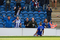 Luke Norris of Colchester United celebrates his goal during Colchester United vs Crawley Town, Sky Bet EFL League 2 Football at the JobServe Community Stadium on 13th October 2018