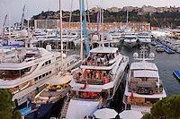 Port Hercules during the Monaco Yacht Show, Monaco, 29 September 2016