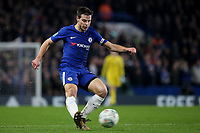 Cesar Azpilicueta of Chelsea in action during Chelsea vs Arsenal, Caraboa Cup Football at Stamford Bridge on 10th January 2018