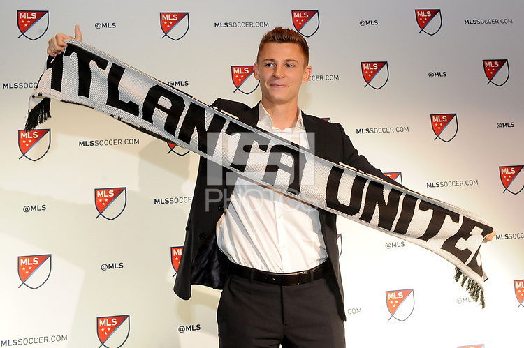 Philadelphia, PA - Thursday January 19, 2018: Gordon Wild during the 2018 MLS SuperDraft at the Pennsylvania Convention Center.