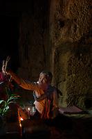 A Nun at Prasat Taprom and Tonle Bati, Cambodia