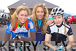 Claire Buckley, Virgina Hourihan and Natalie Baer Killarney having fun at the start of the annual Ring of Kerry cycle in Killarney on Saturday