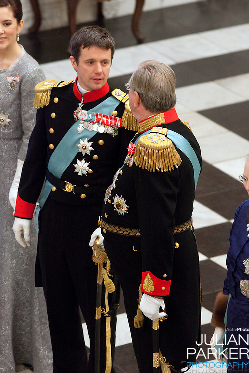Crown Prince Frederik, and Prince Henrik of Denmark attend the New Year Court for diplomats at Christiansborg Palace, in Copenhagen, Denmark.