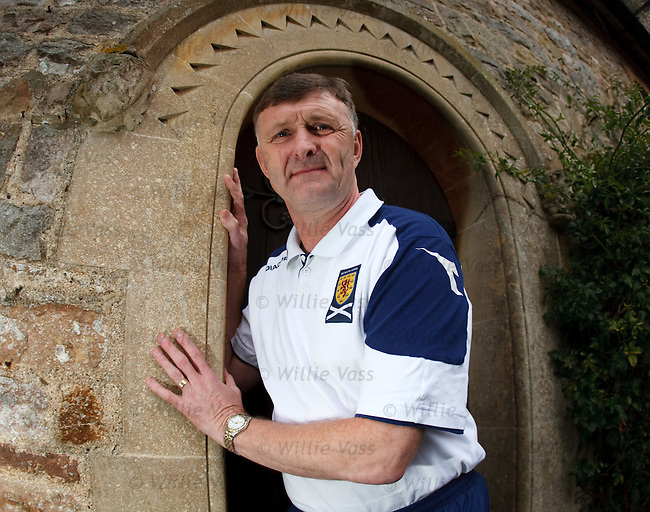 Scotland coach Paul Hegarty at the team hotel in Chepstow, Wales