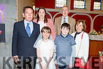 Saoirse Doyle from Caherlaheen NS, celebrating her 1st Holy Communion on Saturday in Church of the Immaculate Conception, Tralee.<br /> L to r: Peter Doyle, Pam O'Brien, Billy Doyle, Colm O'Brien and Honor Doyle.