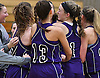 Port Jefferson varsity girls basketball teammates celebrate after their win over East Rockaway in the Class C Long Island Championship at SUNY Old Westbury on Monday, March 6, 2017.