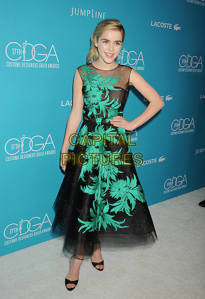 BEVERLY HILLS, CA - FEBRUARY 17: Actress Kiernan Shipka attends the 17th Costume Designers Guild Awards at The Beverly Hilton Hotel on February 17, 2015 in Beverly Hills, California.<br /> CAP/ROT/TM<br /> &copy;TM/ROT/Capital Pictures