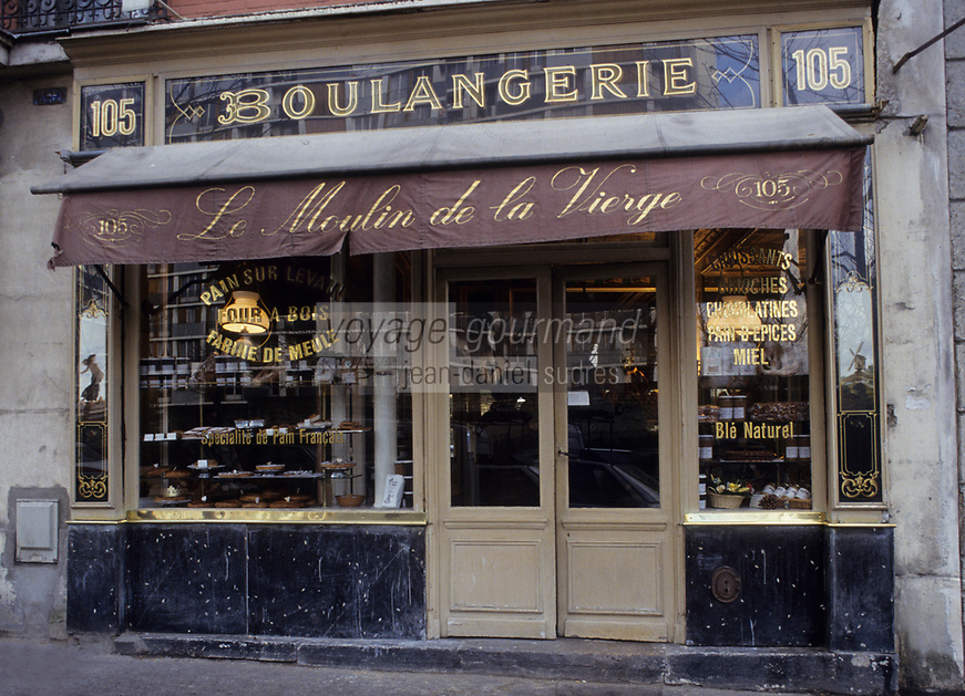 "Europe/France/Ile-de-France/Paris : ""BELLE EPOQUE"" - Boulangerie ""Le Moulin de la Vierge"" 105 rue Vercingétorix<br /> PHOTO D'ARCHIVES // ARCHIVAL IMAGES<br /> FRANCE 1990"