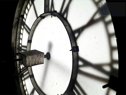Feb. 21, 2013; Basilica clock face..Photo by Matt Cashore/University of Notre Dame