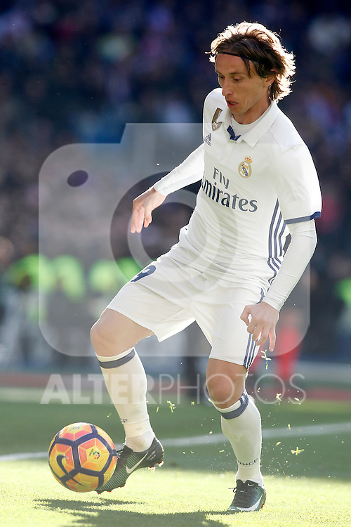 Real Madrid's Luka Modric during La Liga match. January 7,2016. (ALTERPHOTOS/Acero)