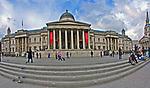 Londyn, 2009-03-05. Budynek Galerii Narodowej (National Gallery) naTrafalgar Square Londynie