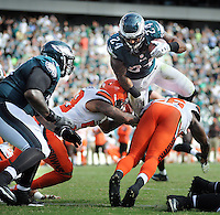 Philadelphia Eagles Ryan Mathews #24 scores a touchdown late in the fourth quarter against the Cleveland Browns Sunday, September 11, 2016 at Lincoln Financial Field in Philadelphia, Pennsylvania.  (Photo by William Thomas Cain)