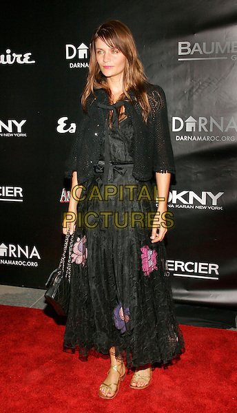 HELENA CHRISTENSEN.Esquire and Jacquetta Wheeler's 212 Society Host Celeb Studded Benefit at Esquire Downtown at Astor Place, New York, NY..November 14th, 2005.Photo: Jackson Lee/Admedia/Capital Pictures.Ref: JL/ADM.full length black crimped skirt dress embroidered floral.www.capitalpictures.com.sales@capitalpictures.com.© Capital Pictures.