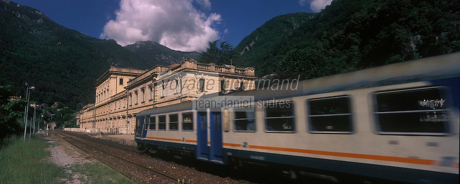 Europe, France, Provence-Alpes-Côtes d'Azur, 06, Alpes-Maritimes, Arrière Pays Niçois, St Dalmas de Tende: La Gare Monumentale
