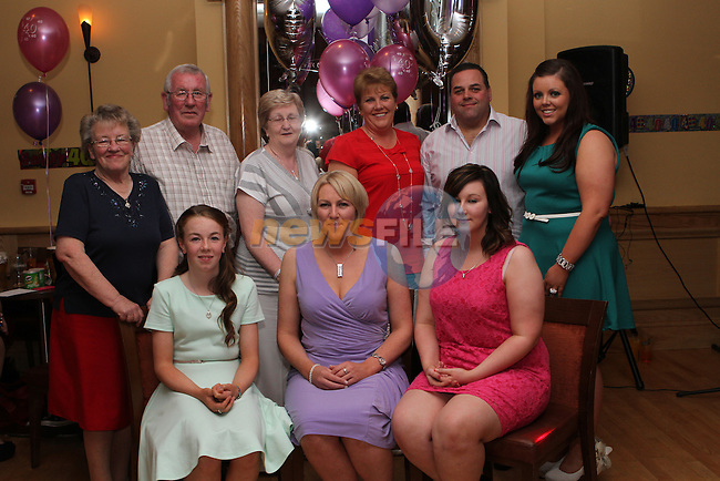 Martina Hughes with her family celebrating her 40th in the Thatch...(Photo credit should read Jenny Matthews/NEWSFILE)...