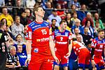 Martin Strobel (HBW Balingen-Weilstetten #15) beim Spiel in der Handball Bundesliga, TVB 1898 Stuttgart - HBW Balingen-Weilstetten.<br /> <br /> Foto © PIX-Sportfotos *** Foto ist honorarpflichtig! *** Auf Anfrage in hoeherer Qualitaet/Aufloesung. Belegexemplar erbeten. Veroeffentlichung ausschliesslich fuer journalistisch-publizistische Zwecke. For editorial use only.