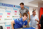08.07.2019: Rangers press conference, Gibraltar: Steven Gerrard and Andy Halliday