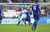30th September 2017, Cardiff City Stadium, Cardiff, Wales; EFL Championship football, Cardiff City versus Derby County; Joe Ralls of Cardiff City wins the ball from Tom Lawrence of Derby County as he closes in on goal