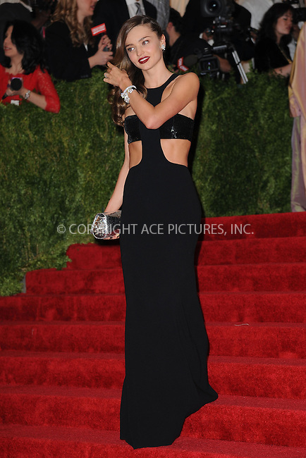 WWW.ACEPIXS.COM . . . . . .May 6, 2013...New York City.....Miranda Kerr attending the PUNK: Chaos to Couture Costume Institute Benefit Gala at The Metropolitan Museum of Art in New York City on May 6, 2013  in New York City ....Please byline: Kristin Callahan...ACEPIXS.COM...Ace Pictures, Inc: ..tel: (212) 243 8787 or (646) 769 0430..e-mail: info@acepixs.com..web: http://www.acepixs.com .