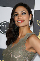 US actress Rosario Dawson arrives at the 25th Independent Spirit Awards held at the Nokia Theater in Los Angeles on March 5, 2010. The Independent Spirit Awards is a celebration honoring films made by filmmakers who embody independence and originality..Photo by Nina Prommer/Milestone Photo