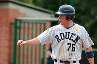 04 June 2010: Boris Marche of Rouen is seen during the 2010 Baseball European Cup match won  20-7 by Heidenheim Heidekopfe over the Rouen Huskies, at the Kravi Hora ballpark, in Brno, Czech Republic.