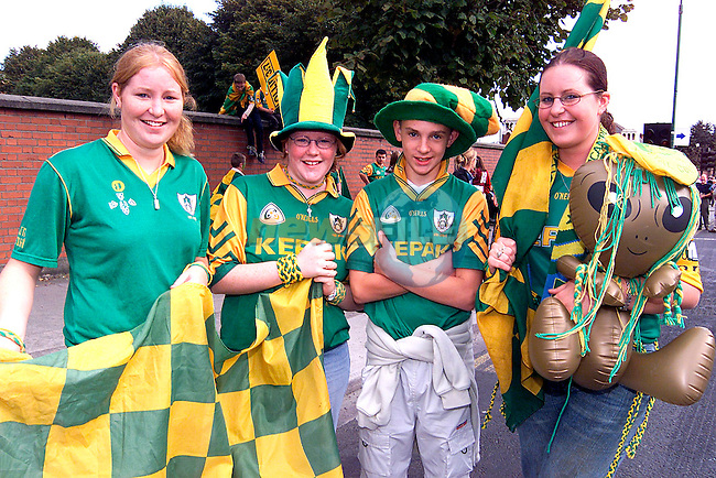 Ciara Kavanagh, Niamh Kavanagh, Thomas Keane and Lisa Kavanagh from Cooperhill at the All Ireland Final at Croke Park.Picture: Paul Mohan/Newsfile