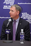 High Point University Athletic Director Dan Hauser was on hand for the press conference to introduce new men's basketball head coach Tubby Smith (not pictured) at the Hayworth Fine Arts Center on the campus of High Point University on March 27, 2018 in High Point, North Carolina.  (Brian Westerholt/Sports On Film)