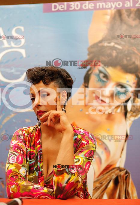 Marie Daulne del grupo Zap Mama, durante una rueda de prensa en Fiestas del Pitic 2013,el 02 junio del 2013, Hermosillo Sonora<br /> <br /> &copy;NortePhoto