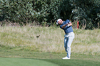 Liam Johnston (SCO) in action on the 2nd hole Ashley Chesters (ENG) in action on the 2nd hole during the 3rd round at the KLM Open, The International, Amsterdam, Badhoevedorp, Netherlands. 14/09/19.<br /> Picture Stefano Di Maria / Golffile.ie<br /> <br /> All photo usage must carry mandatory copyright credit (© Golffile | Stefano Di Maria)